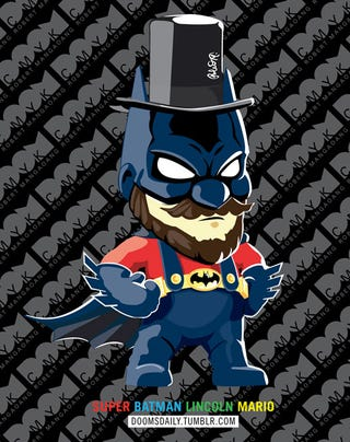 Illustration for article titled By Super Mario's Beard, Batman!