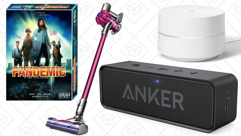 Illustration for article titled Today's Best Deals: Anker SoundCore, Google Wifi, Dyson Vacuum, and More