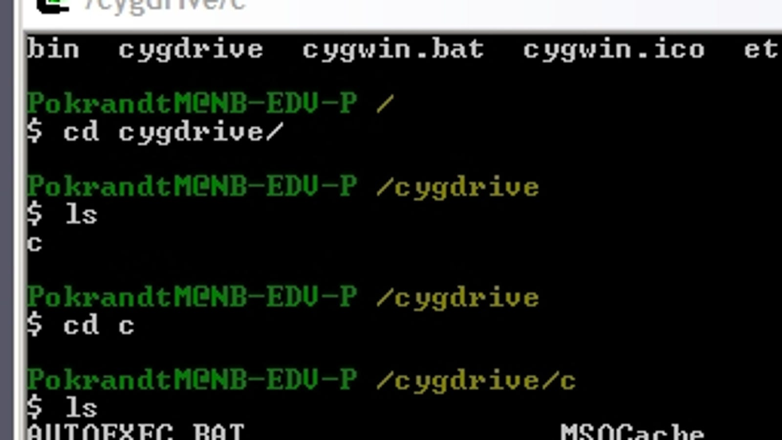 cygwin 1.7.7