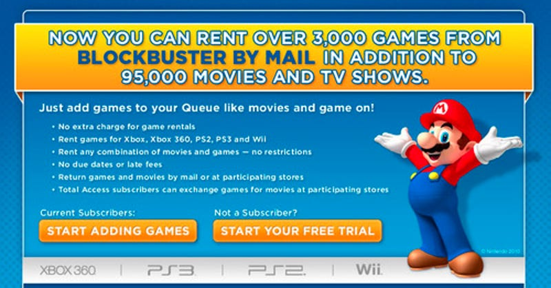 Blockbuster Online Finally Adds Game Rentals Through the Mail
