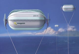 Illustration for article titled Floating wind turbines could be our energy solution in the clouds
