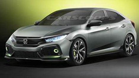 The 2017 Honda Civic Hatch Concept Looks Ready For A Track Day