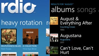 Illustration for article titled Rdio Streams in the Background on Windows Phone Now