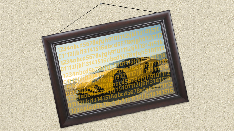 Illustration for article titled Someone Actually Bought A Piece Of Crypto Art About A Lamborghini For The Price Of An Actual Lamborghini