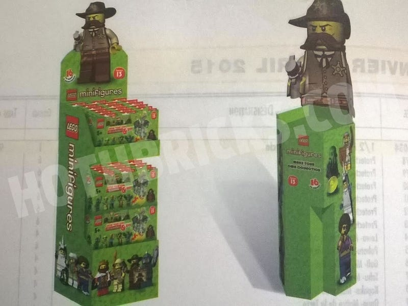 Illustration for article titled Lego Series 13 minifigure display leaked