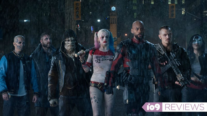 Illustration for article titled Movie Review: Suicide Squad Is Chaotic, Manic, and a Total Mess