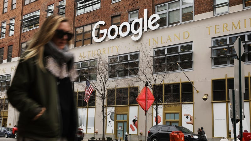 Google's New York office is shown in lower Manhattan on March 5, 2018 in New York City.