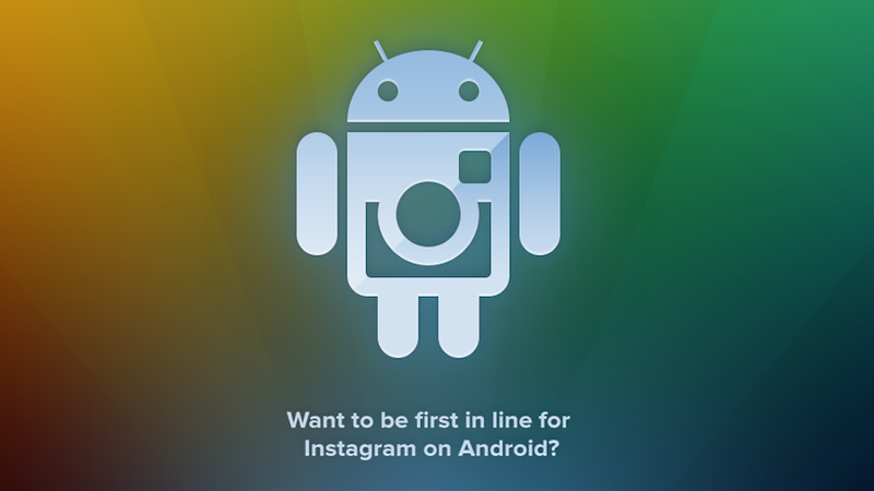 Illustration for article titled The Instagram for Android Signup Page Is Live