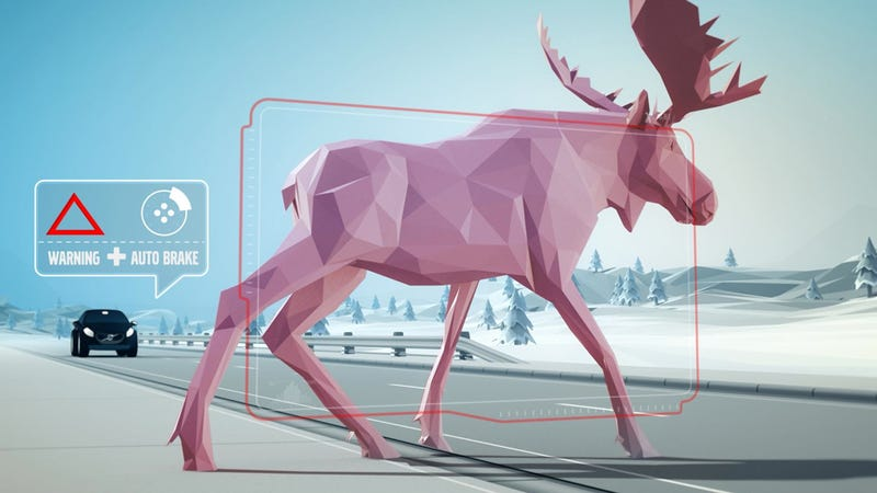 Illustration for article titled Volvo Shows Off The Latest In Cutting-Edge Moose Evasion Technology