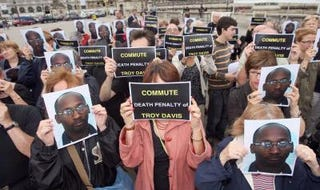 Demonstration for Troy Davis (Mehdi Fedouach/AFP/Getty)