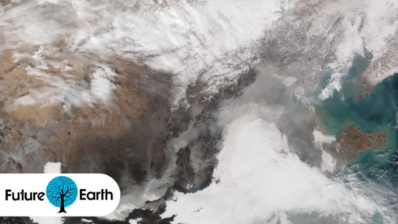 Illustration for article titled Here's What That Choking Blanket of Smog Over China Looks Like From Space