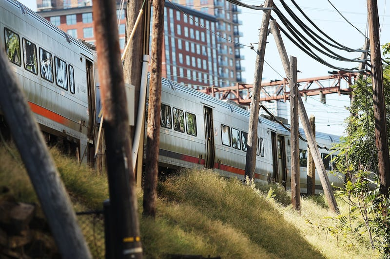 A NJ Transit train pulls away from the closed Hoboken Terminal on Oct. 5, 2016, in New Jersey.Spencer Platt/Getty Images