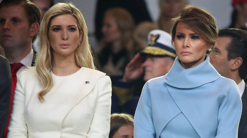 First Lady Melania Trump Right And Ivanka Photo Mark Wilson Getty Images