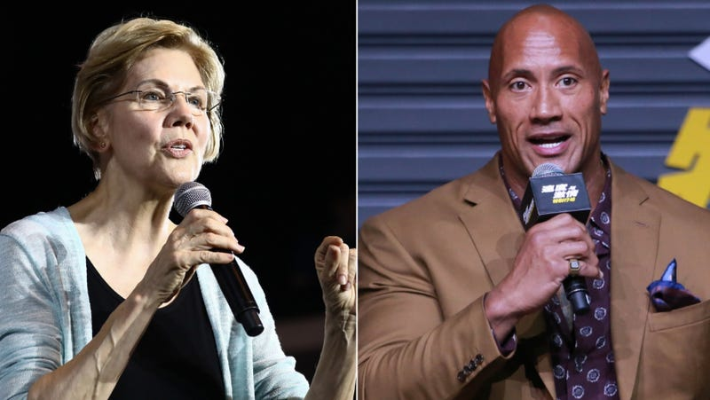 Illustration for article titled Elizabeth Warren and Dwayne Johnson's lovefest continued on last night's Ballers (and on Twitter)