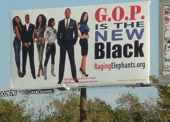 "Raging Elephants' ""GOP Is the New Black"" Billboard"