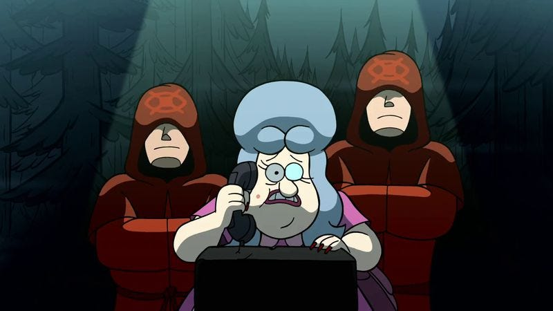 """Illustration for article titled Gravity Falls: """"Society Of The Blind Eye"""""""