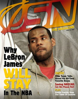 Illustration for article titled Why LeBron James Will Stay In The NBA