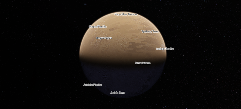 Illustration for article titled Here's How to Explore the Moon and Mars in Google Maps