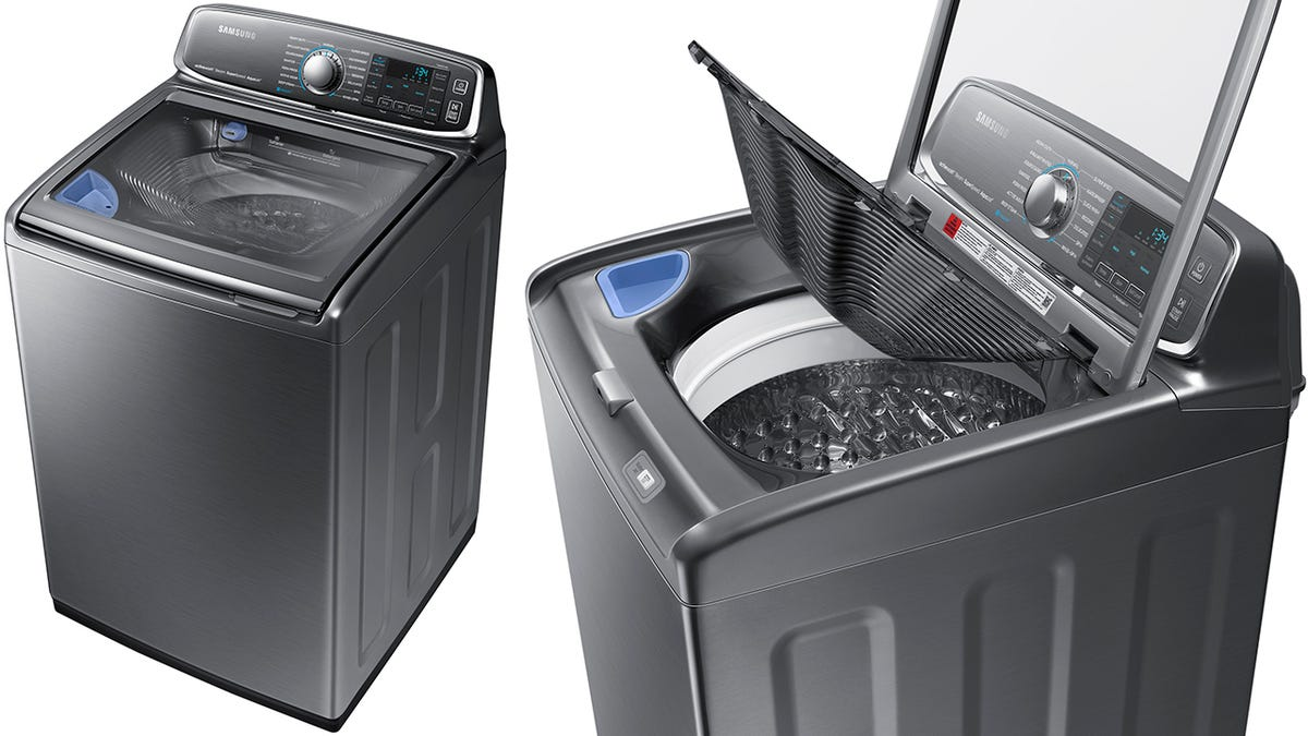 This Samsung Washer Has Its Own Built-in Sink For Pre-Treating Stains