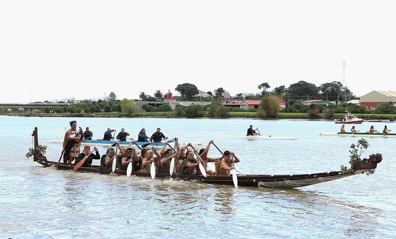 Maoríes en el río Whanganui. Getty