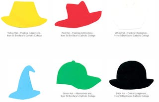 Illustration for article titled Boost Your Brainstorming with the Six Thinking Hats Method