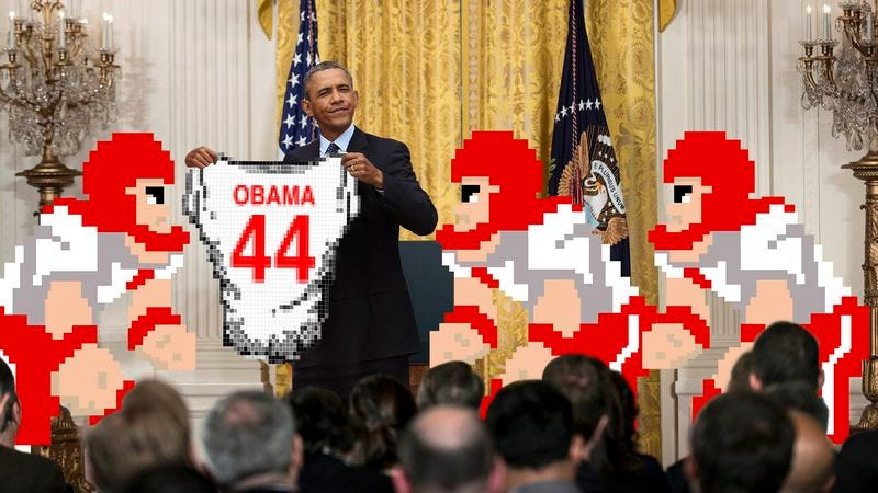Illustration for article titled Tecmo Bowl–Winning Bulldogs Visit White House