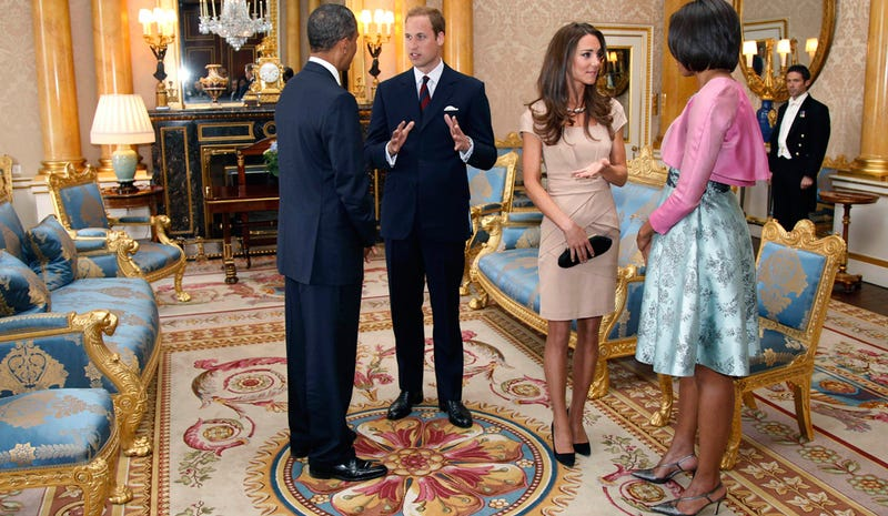 Illustration for article titled William & Kate Meet Barack & Michelle