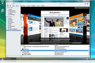 "Illustration for article titled Safari 4 Beta Adds Cover Flow, Runs ""3x Faster"" than Firefox"