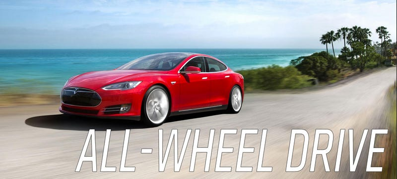 Illustration for article titled This Has To Be Confirmation Tesla's 'D' Is An AWD Model S