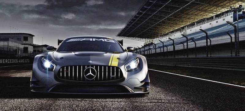 Illustration for article titled You Better Run From The Mean Grimace Of The Mercedes-AMG GT3