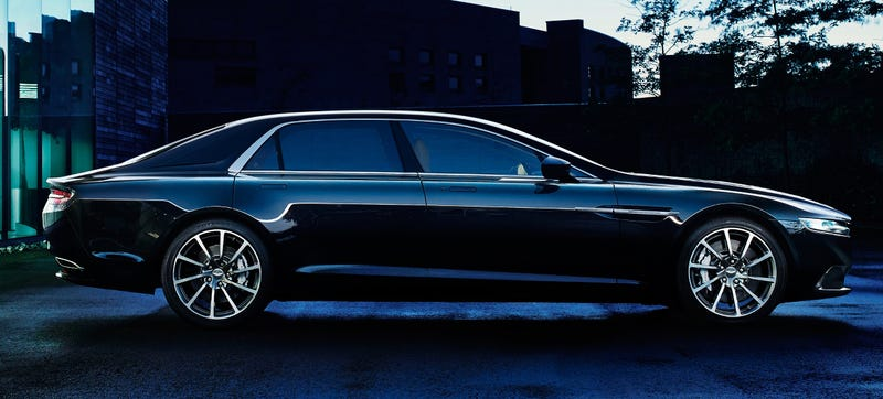 Illustration for article titled The New Aston Martin Lagonda: 550 Horses Of Pure V12 Sedan Sexiness