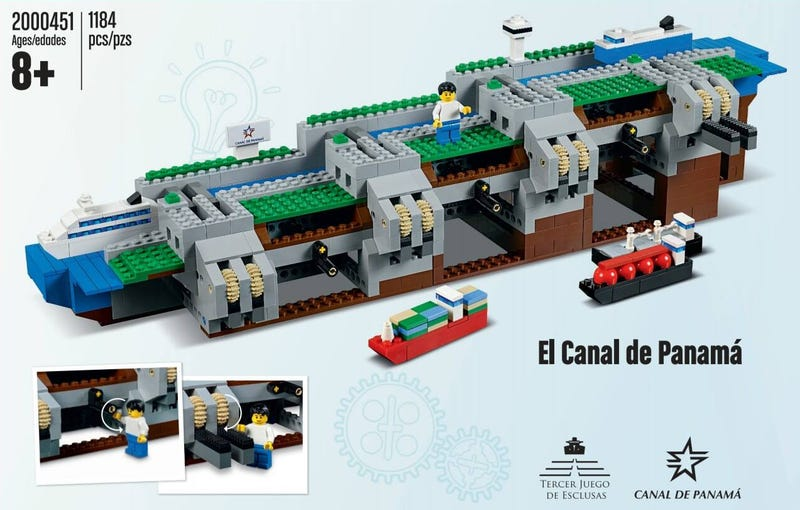 Illustration for article titled Lego Made a Miniature Working Version of the Panama Canal