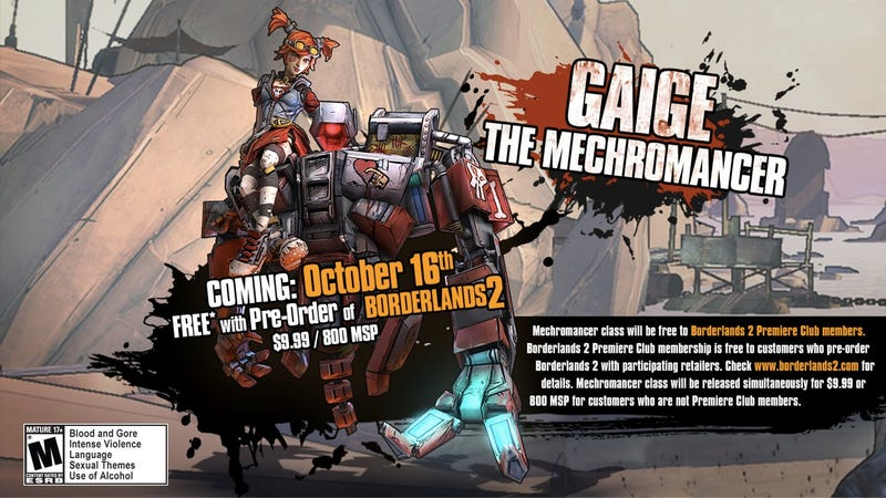 Illustration for article titled Borderlands 2's Mechromancer Has a Name, You Know