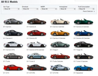 There Really Are 20 Different Porsche 911s For Sale