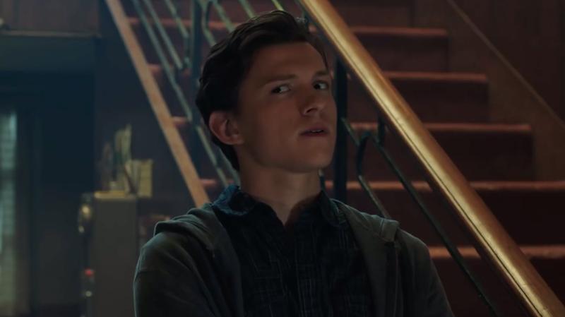 Tom Holland as Peter Parker.