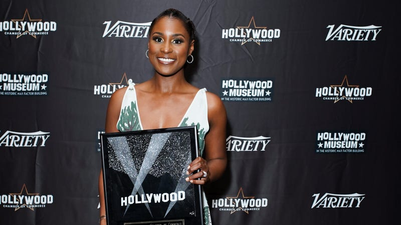 Issa Rae attends The Hollywood Chamber's 7th Annual State Of The Entertainment Industry Conference Presented By Variety at Loews Hollywood Hotel on November 15, 2018 in Hollywood, California.