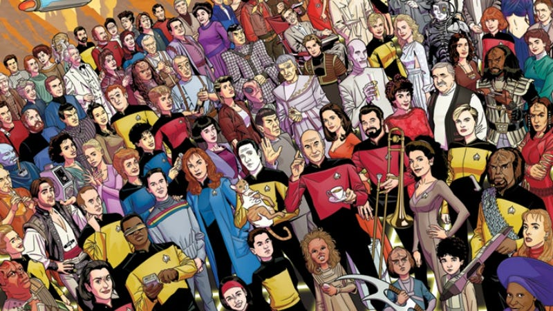 Illustration for article titled Can You Identify Every Character in These Special 30th Anniversary Star Trek: The Next GenerationPosters?
