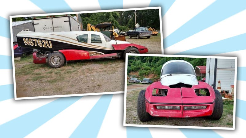 Illustration for article titled This Backyard Airplane-Corvette Monster Is Pretty Much Why Craigslist Exists