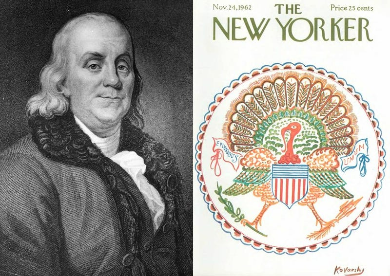 Illustration for article titled Did Ben Franklin Want the Turkey to Be Our National Symbol?