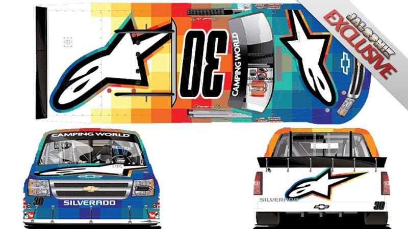 Illustration for article titled This Is NASCAR's New Art Truck