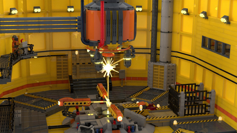 Illustration for article titled Half-Life's Black Mesa Test Chamber, In LEGO Form