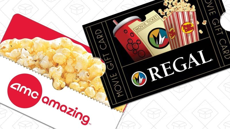 $25 AMC Gift Card, $20 | $50 Regal Gift Card, $40