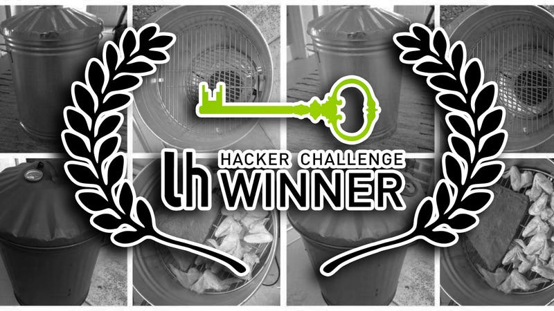 Illustration for article titled Hacker Challenge Winner: Create a DIY Trash Can Smoker