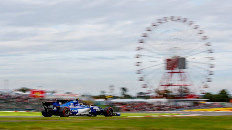 Pascal Wehrlein in a Sauber F1 car at the Japanese Grand Prix. Photo credit: Lars Baron/Getty Images