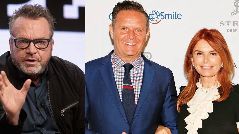 (L-R)Tom Arnold, Producer Mark Burnett and actress Roma Downey