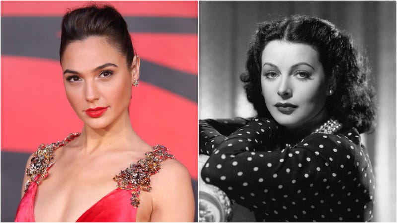 Gal Gadot (L) in 2016; Hedy Lamarr (R) in 1945