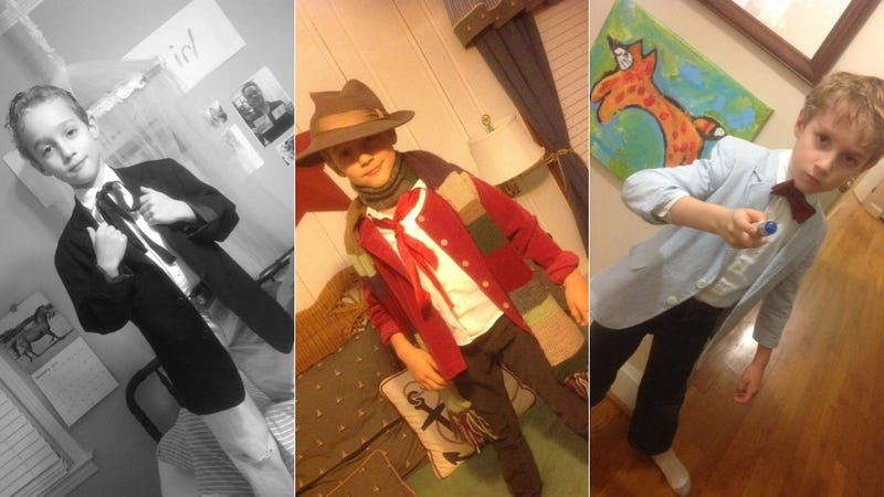 Illustration for article titled Young Who fan dresses up as all 11 Doctors without his parents' help
