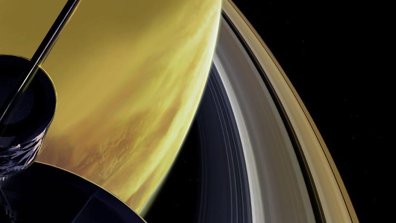 Así suena el espacio entre Saturno y sus anillos