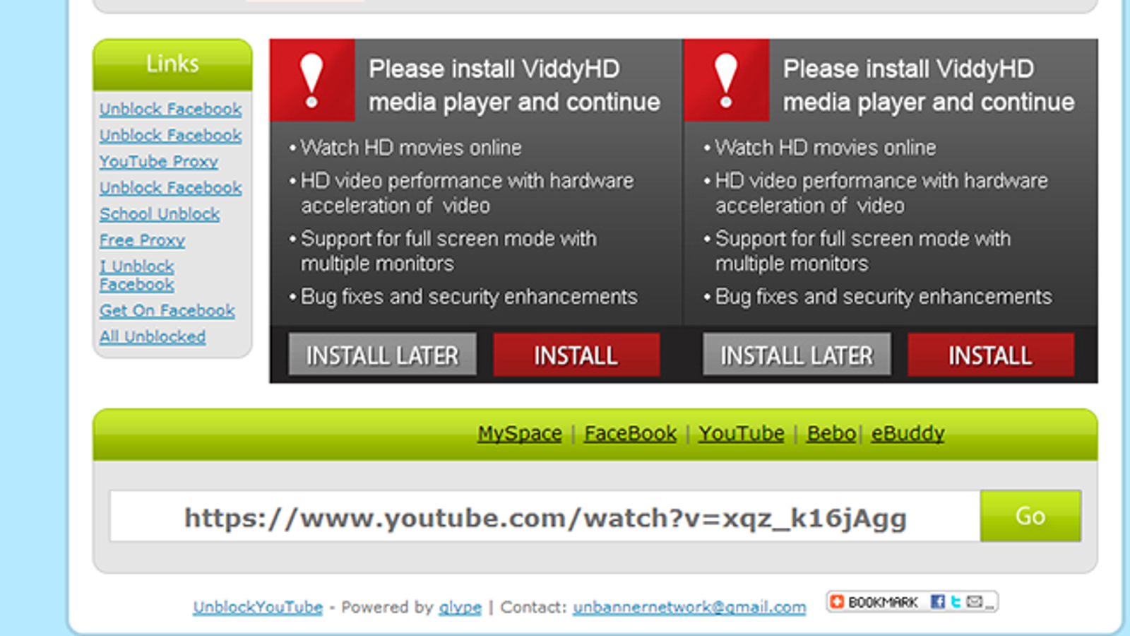 Unblock YouTube Bypasses Region Filtering on YouTube Videos