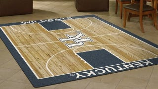 Illustration for article titled Tiny Basketball Court Rugs Give Any Room the Home Court Advantage